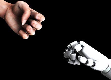 mano robotica: Una imagen conceptual de un pu�o humano de la robusteza de los versos, de que pod�a representar los conceptos de la agresi�n, de la batalla o de la energ�a.