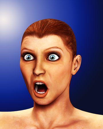 traumatized: Shocked Women Stock Photo