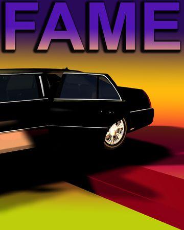 involving: L'immagine di una limousine con un tappeto rosso, utile per concetti che coinvolgono fama e anteprime film.  Archivio Fotografico