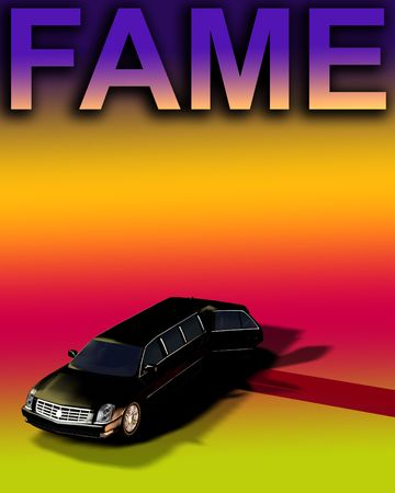 involving: An image of a Limousine with a red carpet, useful for concepts involving fame and movie premieres. Stock Photo