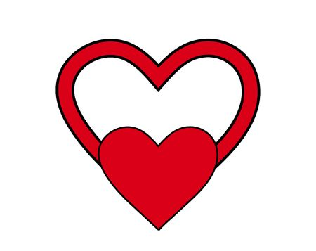 would: An image of a heart symbol, it would be good for images involving  concepts and valentines day
