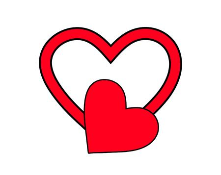 involving: An image of a heart symbol, it would be good for images involving  concepts and valentines day