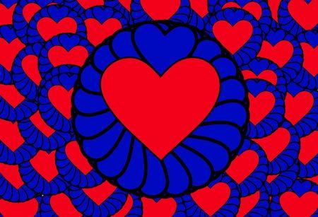 involving: L'immagine di un insieme di simboli di cuore, sarebbe un bene per le immagini che coinvolgono i concetti e San Valentino.