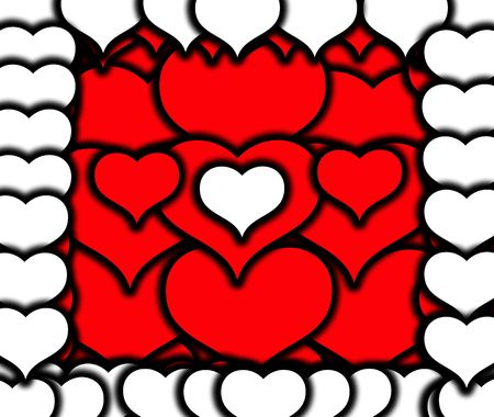 involving: An image of a set of heart symbols, it would be good for images involving romantic concepts and valentines day. Stock Photo