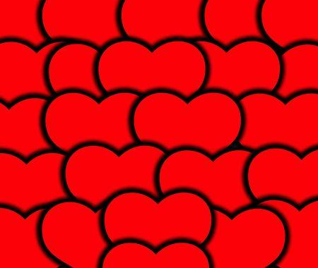 involving: L'immagine di un insieme di simboli di cuore, sarebbe un bene per le immagini e concetti che coinvolgono romantico San Valentino.