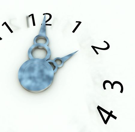 represents: An image of a clock that represents concepts of time.