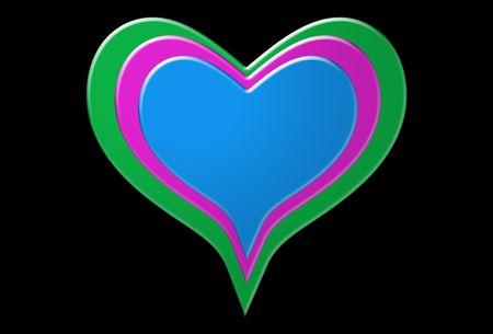 involving: L'immagine del cuore di molti simboli, sarebbe un bene per le immagini che coinvolgono i concetti e San Valentino. Archivio Fotografico