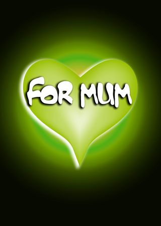 would: An image of a heart symbolsign, that would be suitable for mothers day concepts.