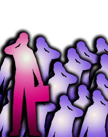 적합: A conceptual image of a groupcrowed of business men. A suitable image for business concepts. 스톡 콘텐츠