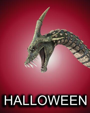 Una imagen de una serpiente de miedo como monstruo, sería bueno para el miedo y el Halloween conceptos.  Foto de archivo - 2676467