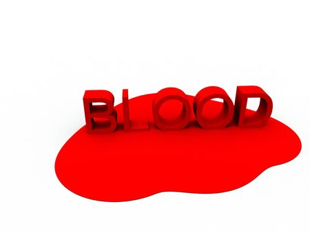 would: An image of the word blood surrounded by blood. It would be good for medical or  based concepts.