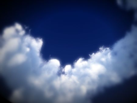 would: A image of a cloudy sky. It would be a good natural background image. Stock Photo