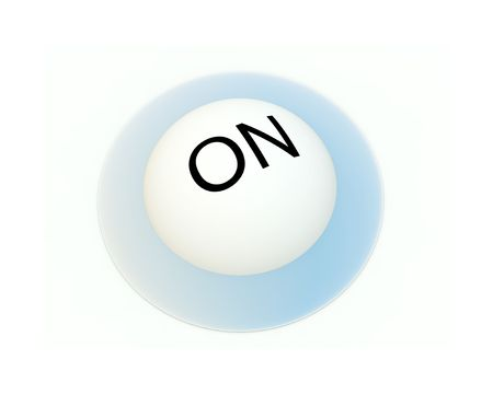 involving: An image of an on button that would be useful for concepts involving being turned on.