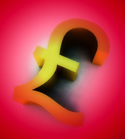 would: A conceptual image of a pound, it would be a good image for money concepts.
