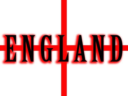 brit: A image of the flag for England, which is part of the united Kingdom of Britain. Stock Photo