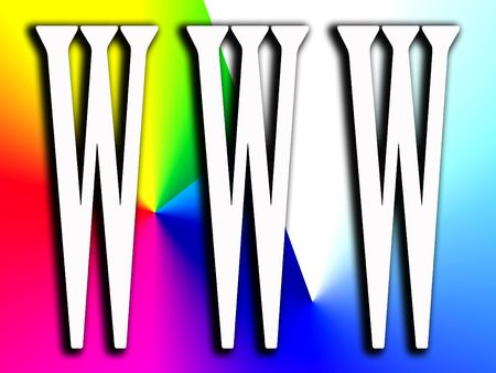 worldwideweb: An image of the www internet symbol or sign.