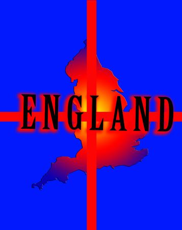 brit: A conceptual image of the map of England.