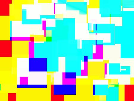 would: A abstract background image made up of colourful squares. It would make an odd texture.