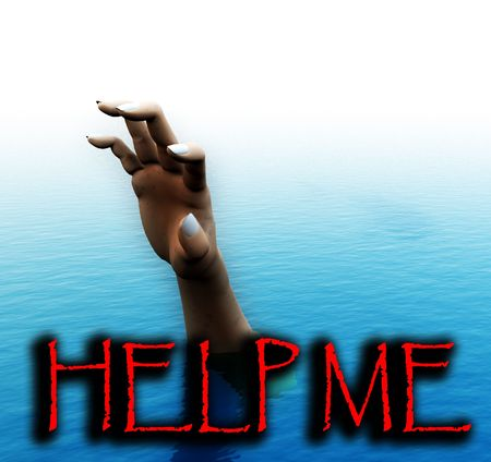 requesting: An image of a man drowning. It would be a good conceptual image for people that are requesting help, or are victims of circumstance. Stock Photo