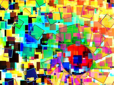 intresting: A colourful abstract background made out of squares. It would make an intresting background texture.