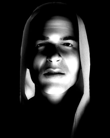 would: An image of a angry thug with a hoodie, it would be good image to highlight criminality concepts.