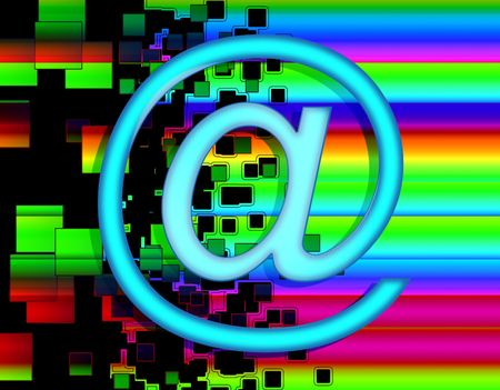 addresses: An image of the internet symbol @ used in email addresses.