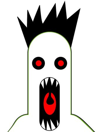 ghostlike: A Halloween image of a scary monster that is screaming.