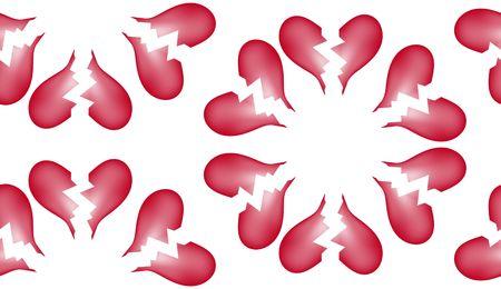 ungeliebt: Eine nahtlose Kachel-Muster aus der gebrochenen Herzen. Lizenzfreie Bilder