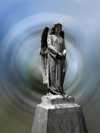 godly: A heavenly graveyard angel, and a good concept for religious concepts.