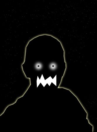 nightmarish: A simple representation of a sinister nightmare, might be good for . Stock Photo