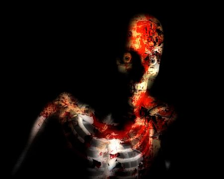 A conceptual Halloween image of a decaying zombie. Stock Photo - 3673256