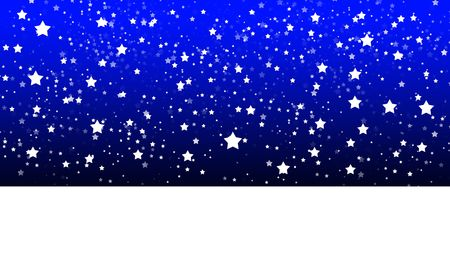 nightime: A simple scene created in illustrator of a snowy landscape with stars in the sky.