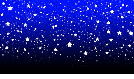 nightime: Una semplice scena creata nel illustratore di un paesaggio innevato con stelle in cielo. Archivio Fotografico