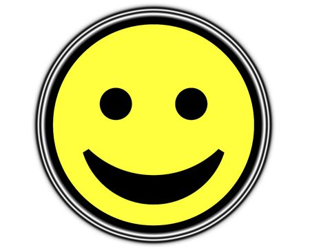 be happy: A simple but happy cartoon face, it would be suitable for happy concepts.