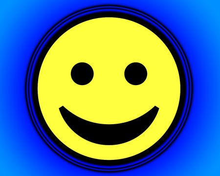 blissful: A simple but happy cartoon face, it would be suitable for happy concepts.