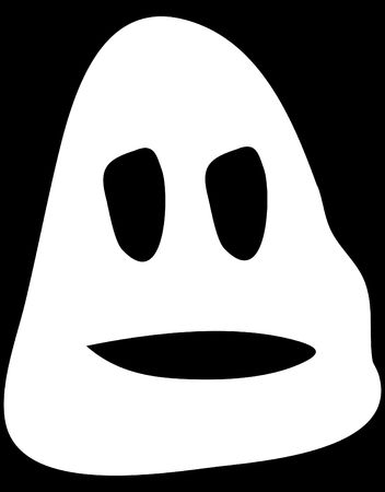 ghostlike: A simple cartoon ghost head for Halloween. Stock Photo