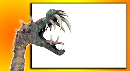 customisable: A horrible monster for Halloween with a blank customisable space.