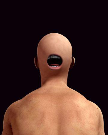 nightmarish: A conceptual nightmarish abstract image of a freaky man, suitable for Halloween