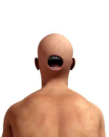 적합: A conceptual nightmarish abstract image of a freaky man, suitable for Halloween