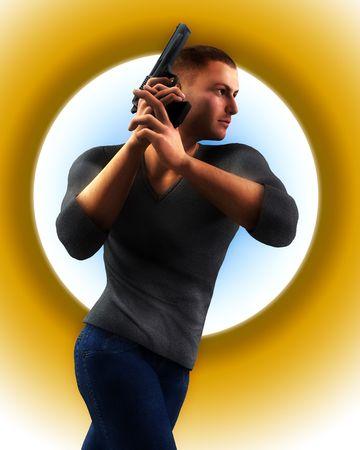 undercover: Un poliziotto sotto copertura in possesso di un fucile.