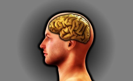 Image of a mans head, for thought and medical concepts. Stock Photo - 3967618