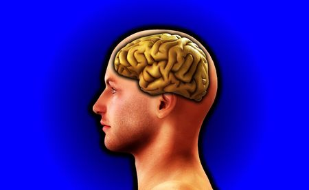 Image of a mans head, for thought and medical concepts. Stock Photo - 3967614