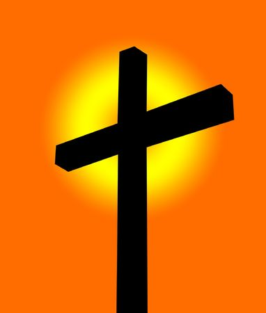 A simple religious cross image, suitable for faith concepts. Stock Photo - 3903144
