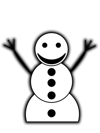 contended: A very happy snowman for Christmas. Stock Photo