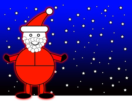nightime: Santa Claus with a night time background. Stock Photo