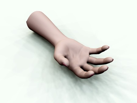 disembodied: A disembodied hand for Halloween, accident or medical concepts.