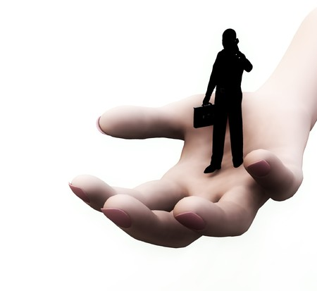 Conceptual image representing help and support. photo