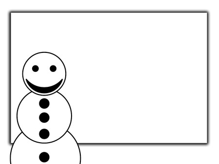 exultant: A happy snowman with a blank sign.