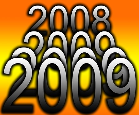 zeros: Conceptual image representing coming of the New Year.