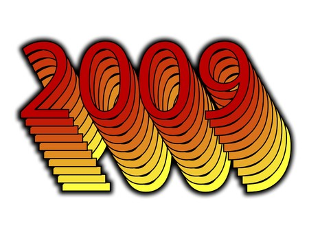 zeros: A simple image representing the new year 2009.